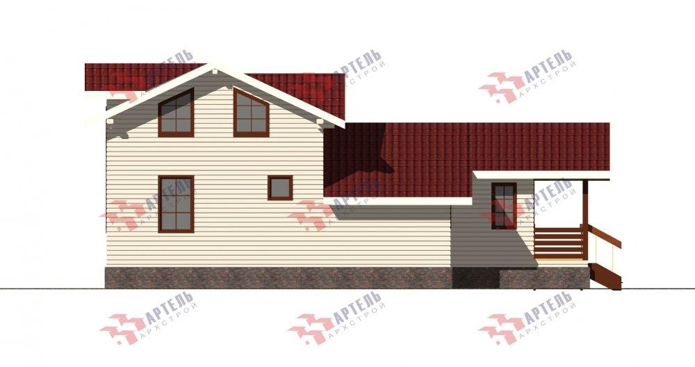 двухэтажный дом из бруса площадью от 100 до 150 кв. м., проект Вариант 13.3 А фотография 5233