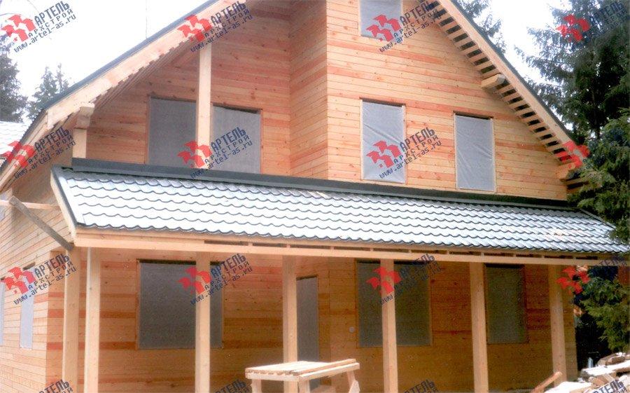 дом из бруса построенный по проекту Вариант 13.3 А фотография 3717