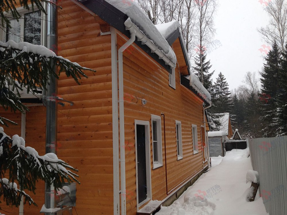 дом из бруса построенный по проекту Вариант 13.3 А фотография 4913