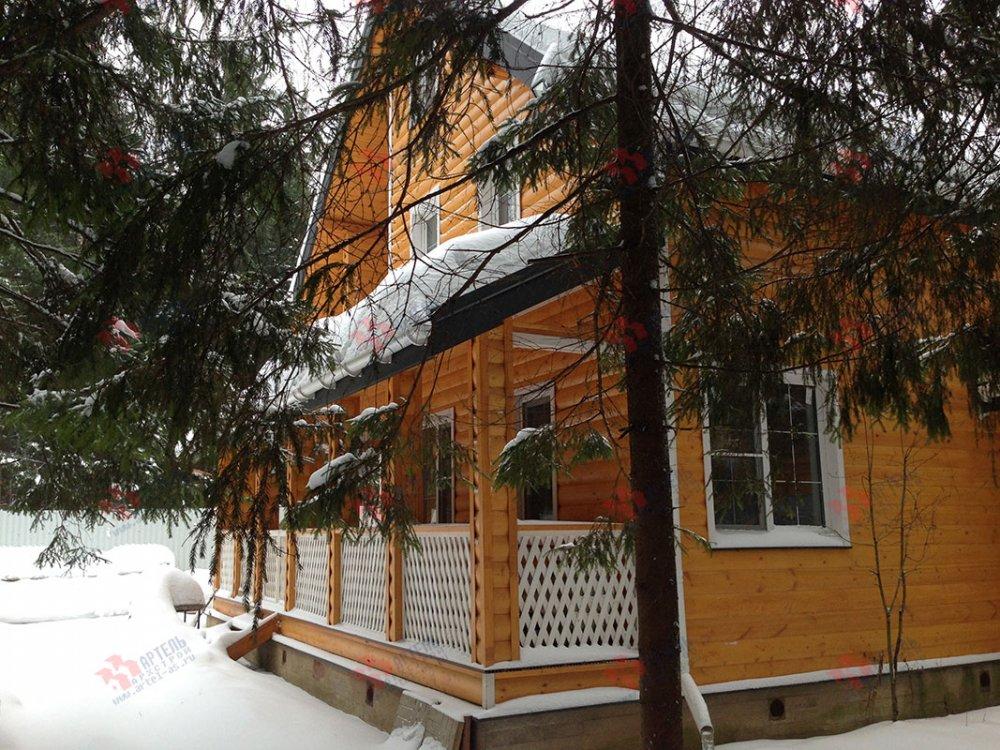 дом из бруса построенный по проекту Вариант 13.3 А фотография 4910