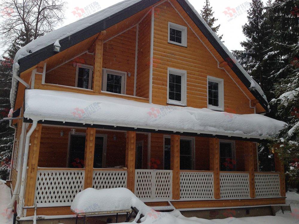 дом из бруса построенный по проекту Вариант 13.3 А фотография 4911