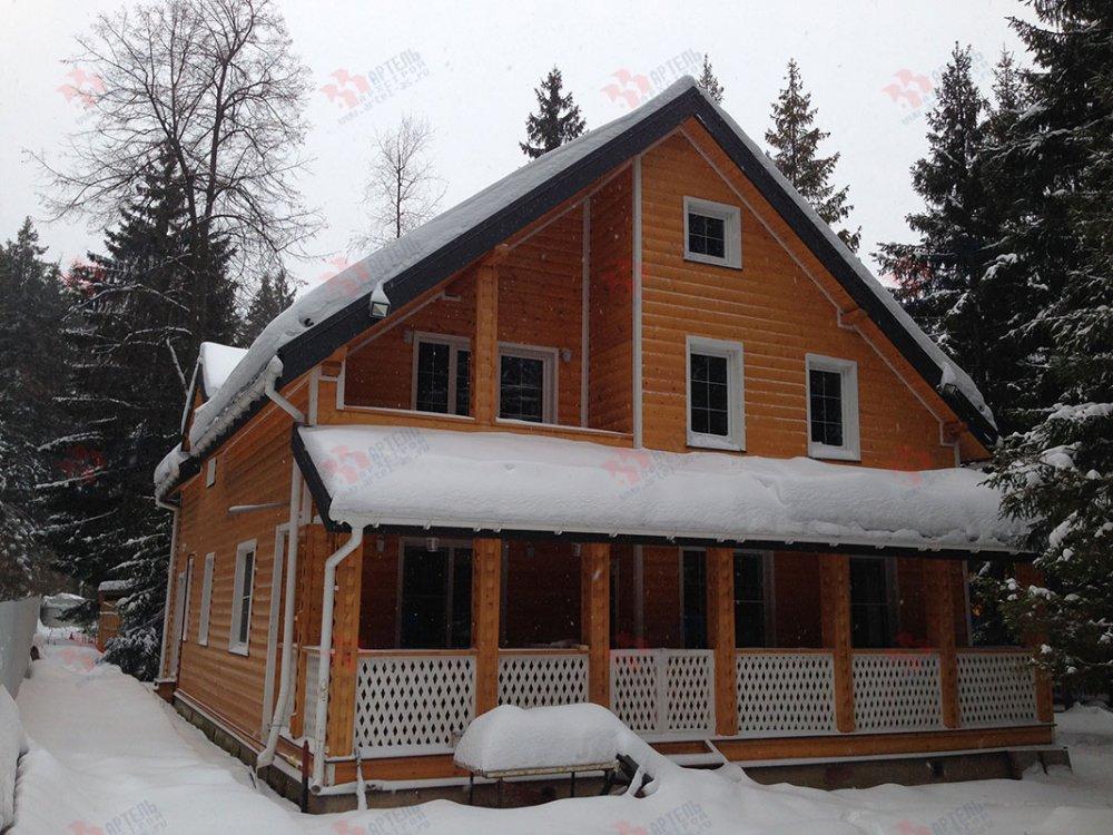 дом из бруса построенный по проекту Вариант 13.3 А фотография 4907