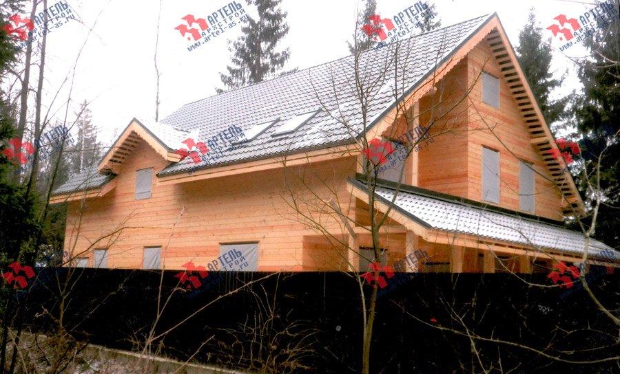 дом из бруса построенный по проекту Вариант 13.3 А фотография 3718