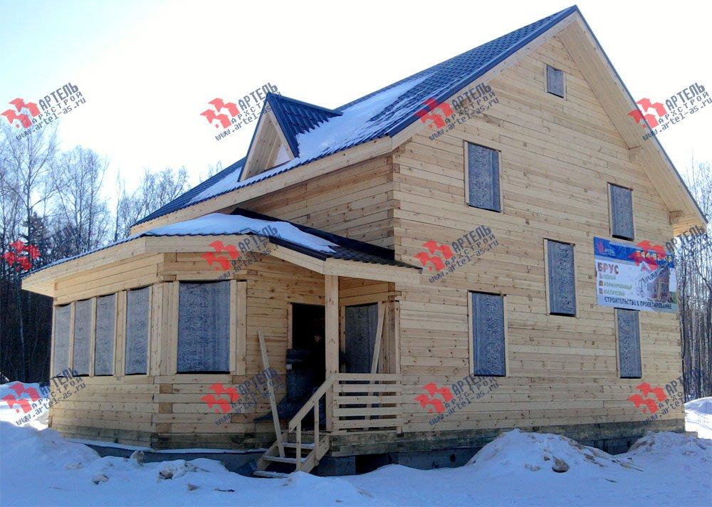дом из бруса построенный по проекту Вариант 8.4 К фотография 1719