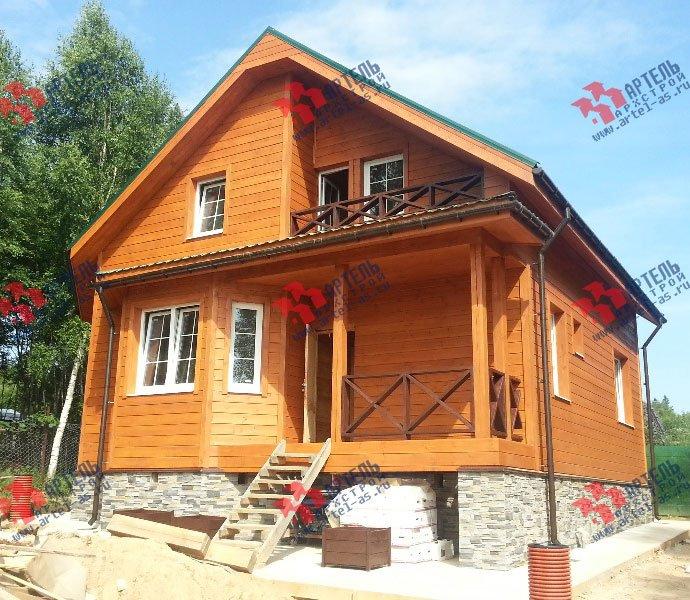дом из бруса построенный по проекту Вариант 8.5 И фотография 3251