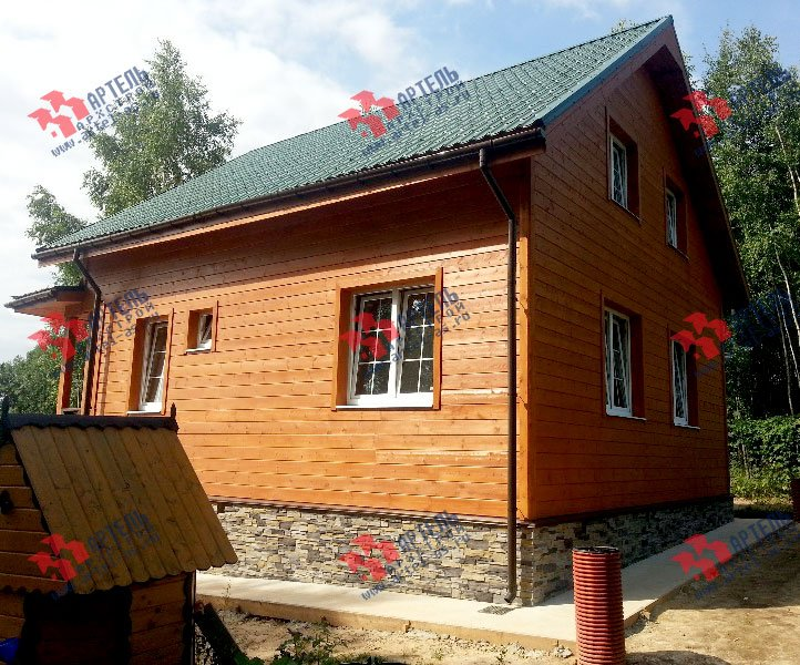 дом из бруса построенный по проекту Вариант 8.5 И фотография 3253