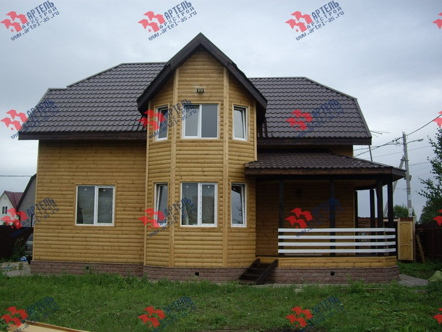 дом из бруса построенный по проекту Вариант 9.3 В фотография 3549
