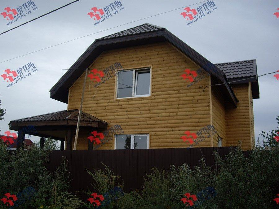 дом из бруса построенный по проекту Вариант 9.3 В фотография 3551