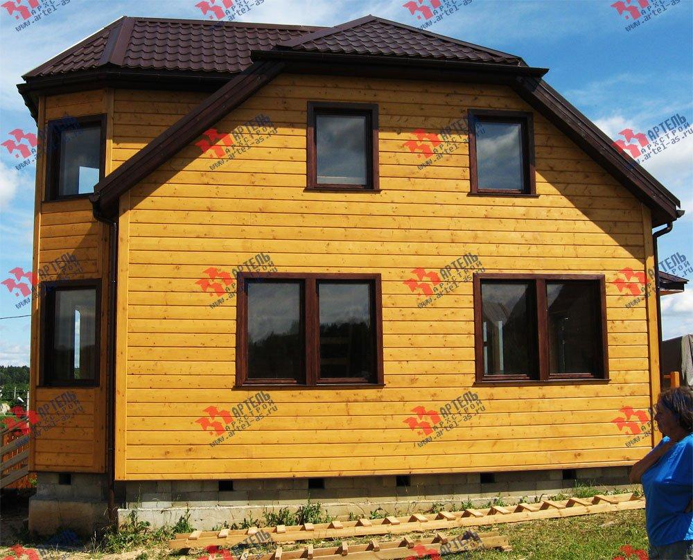 дом из бруса построенный по проекту Вариант 10 Б фотография 1866