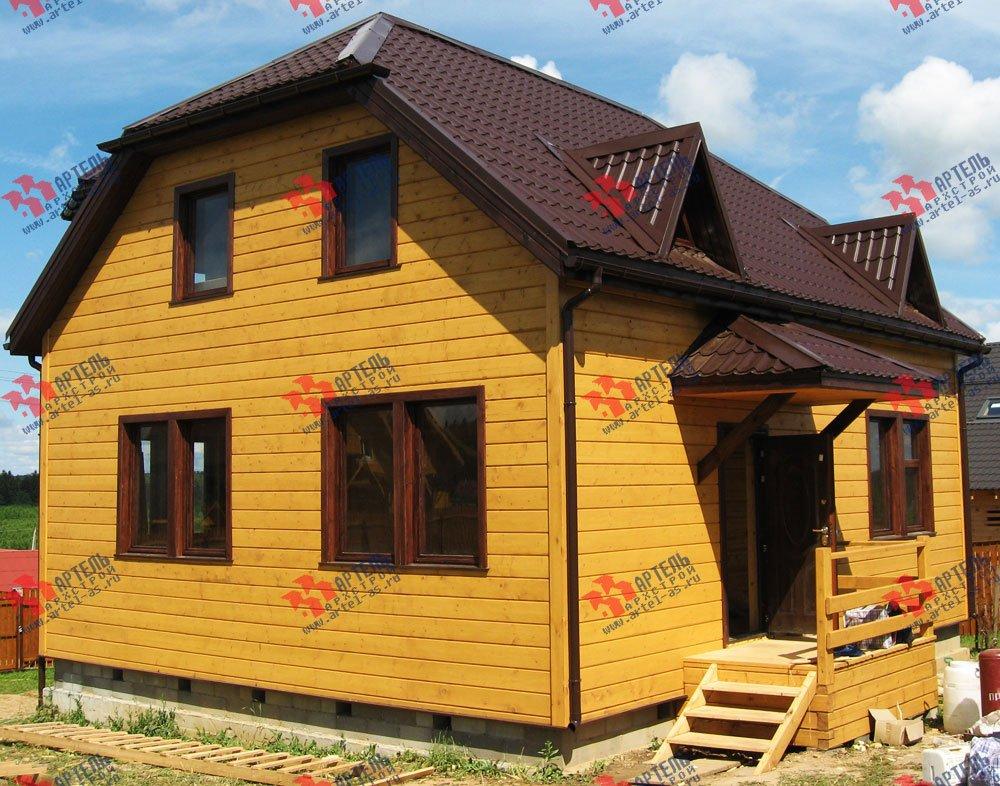 дом из бруса построенный по проекту Вариант 10 Б фотография 1867