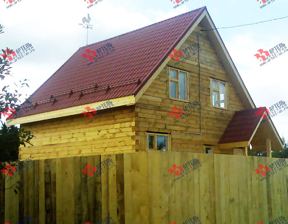 дом из профилированного бруса построенный по проекту Вариант 7 Д фотография 1681