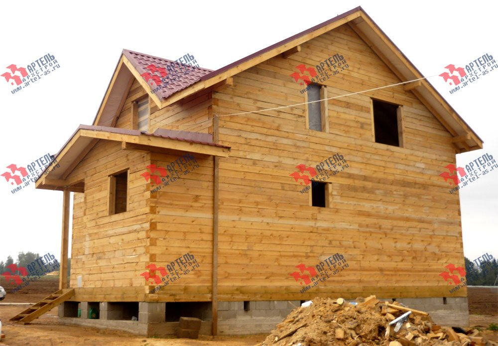 дом из бруса построенный по проекту Вариант 8 А-1 фотография 2561