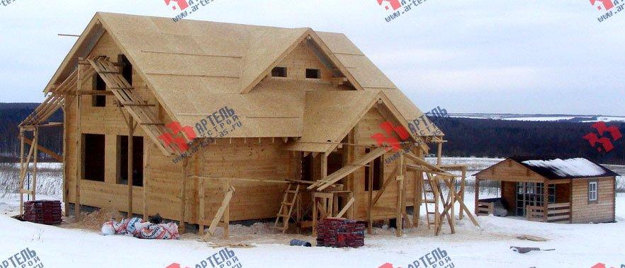 дом из профилированного бруса построенный по проекту Вариант 8.5 Л фотография 1728