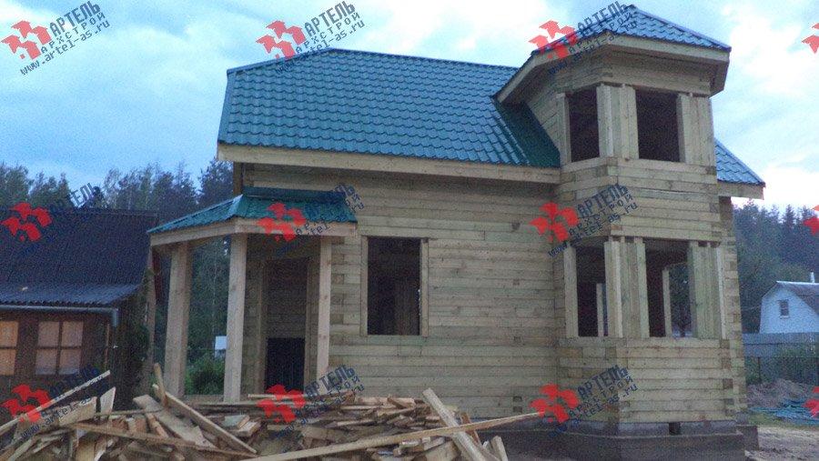 дом из профилированного бруса построенный по проекту Вариант 6 К фотография 3572