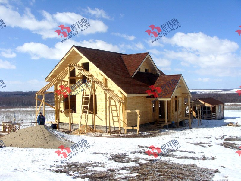 дом из профилированного бруса построенный по проекту Вариант 8.5 Л фотография 1729