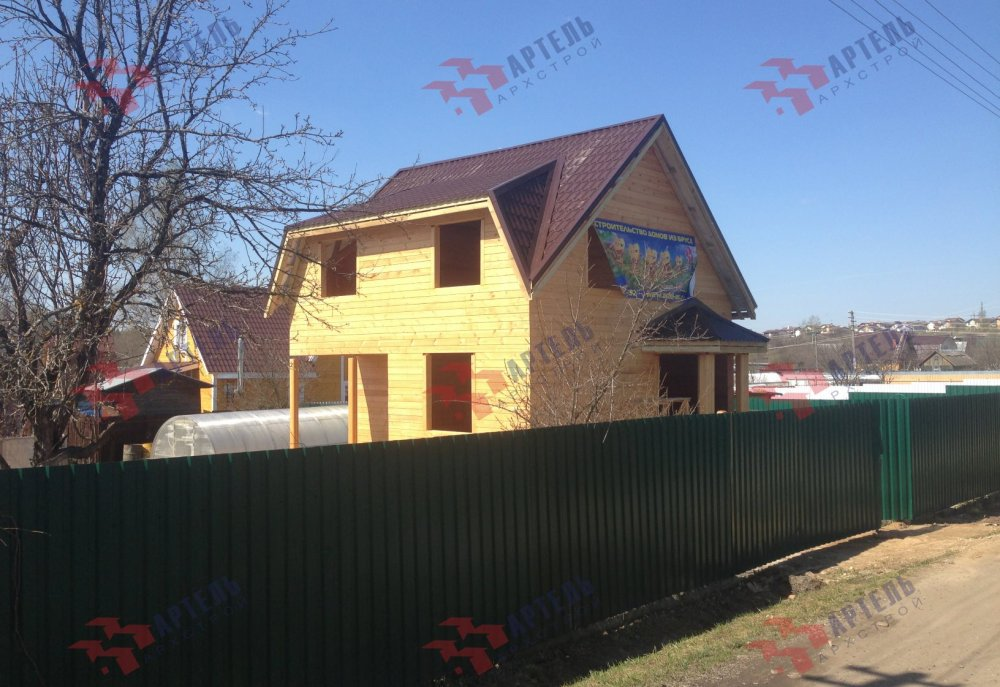 дом из профилированного бруса построенный по проекту Вариант 6 Д фотография 5190