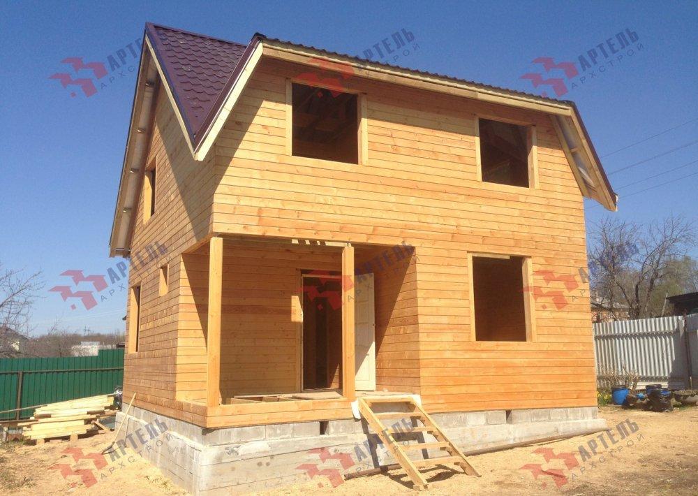 дом из профилированного бруса построенный по проекту Вариант 6 Д фотография 5191