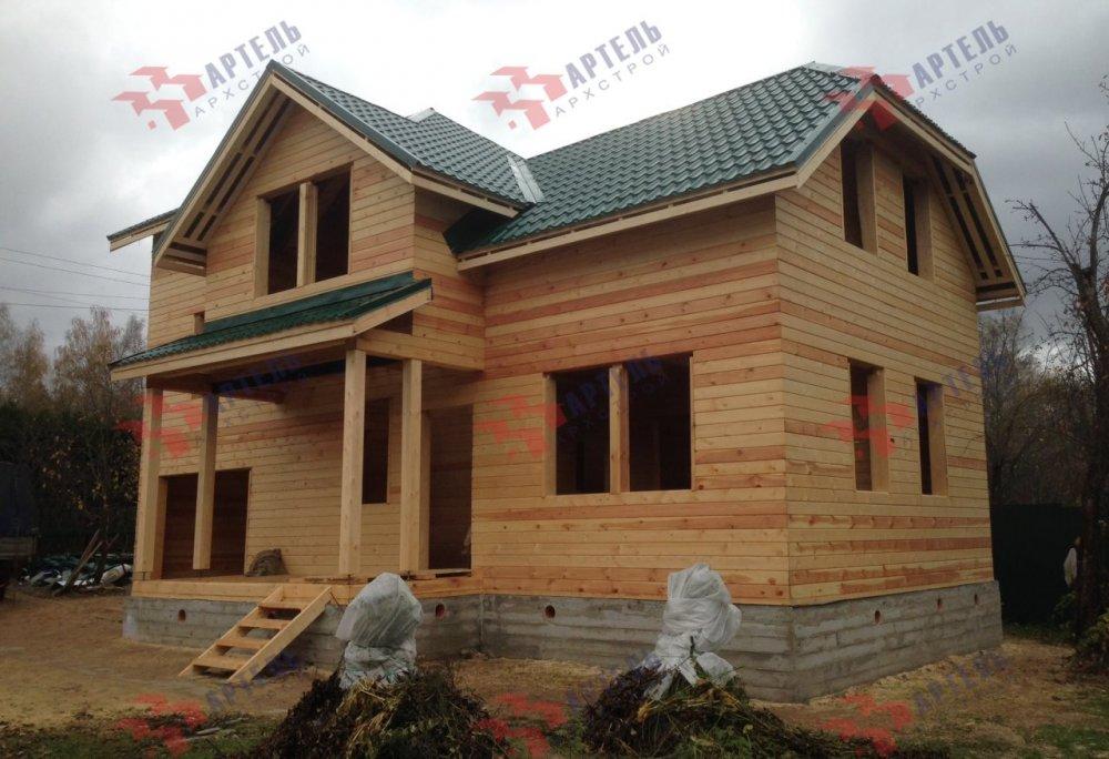 дом из бруса построенный по проекту Вариант 6 М фотография 5180