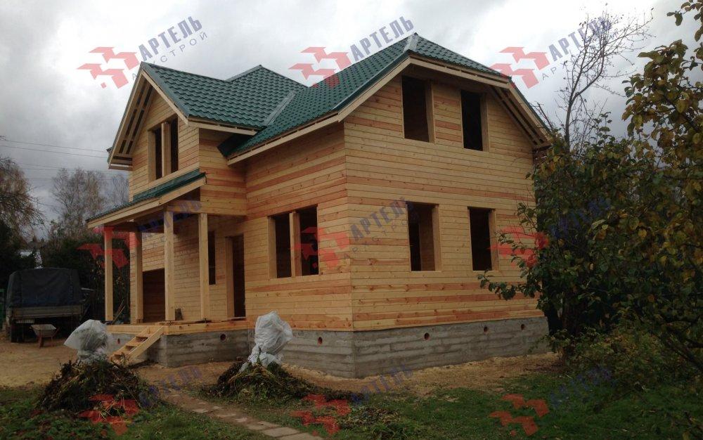 дом из бруса построенный по проекту Вариант 6 М фотография 5182