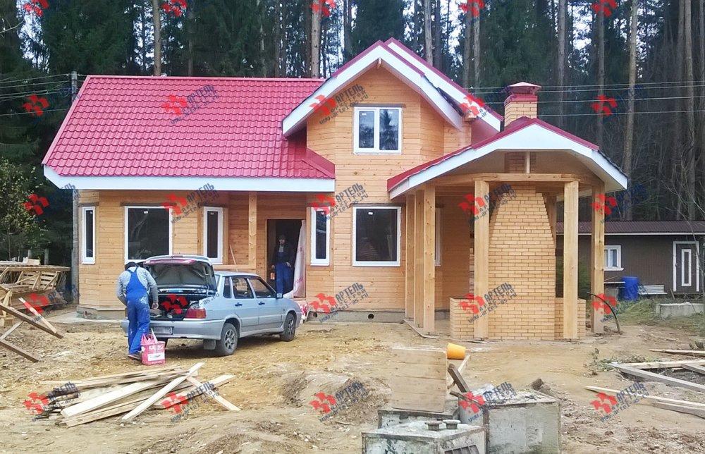 дом из профилированного бруса построенный по проекту Вариант 6.7 Б фотография 4600