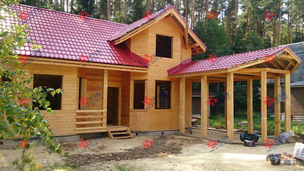 дом из профилированного бруса построенный по проекту Вариант 6.7 Б фотография 4604