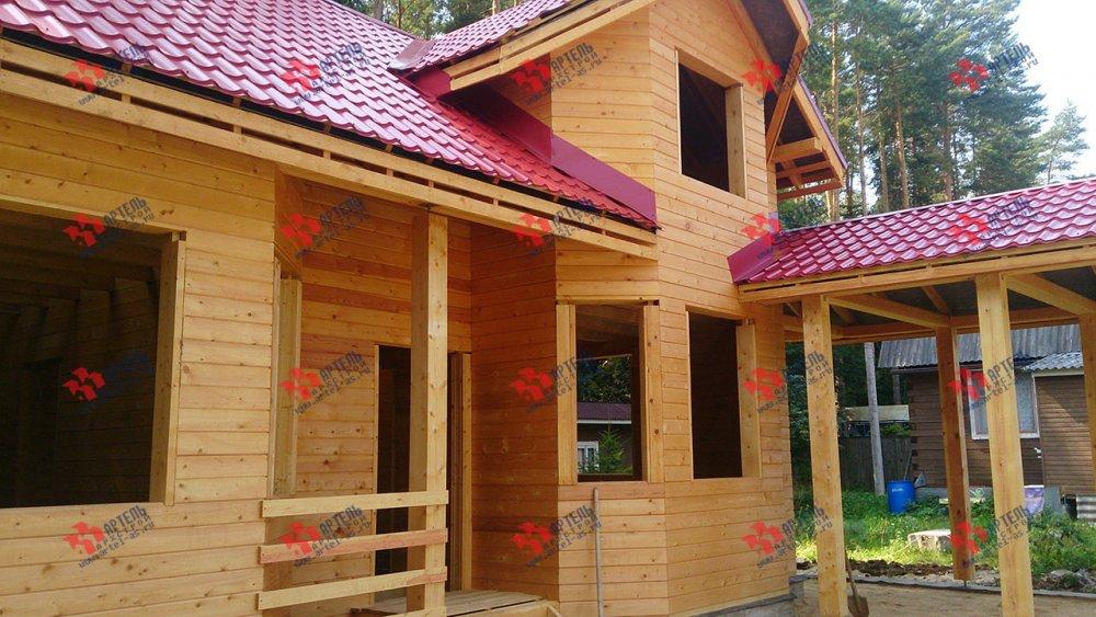 дом из профилированного бруса построенный по проекту Вариант 6.7 Б фотография 4607