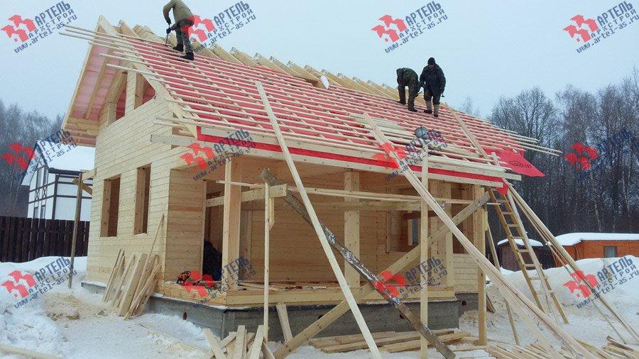дом из профилированного бруса построенный по проекту Вариант 6 Л фотография 3751