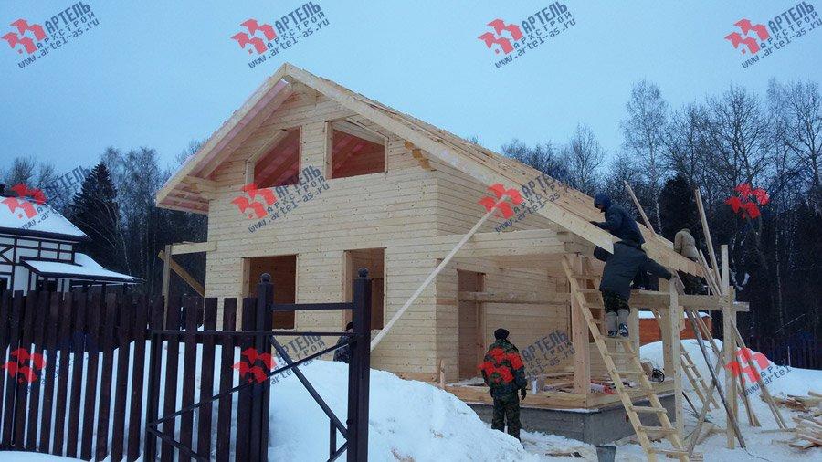 дом из профилированного бруса построенный по проекту Вариант 6 Л фотография 3752