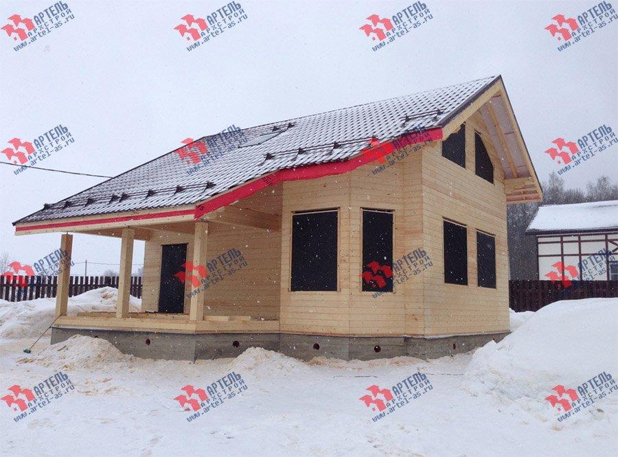 дом из профилированного бруса построенный по проекту Вариант 6 Л фотография 3750