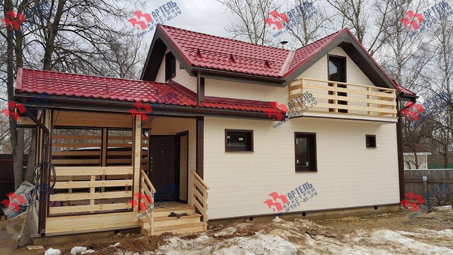 дом из профилированного бруса построенный по проекту Вариант 7 фотография 3721