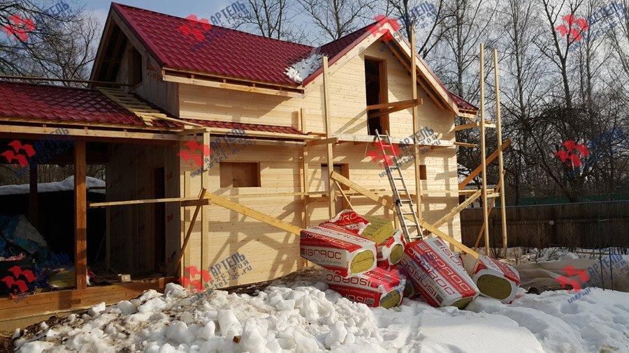 дом из профилированного бруса построенный по проекту Вариант 7 фотография 3726