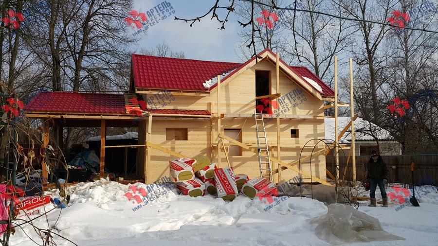 дом из профилированного бруса построенный по проекту Вариант 7 фотография 3727