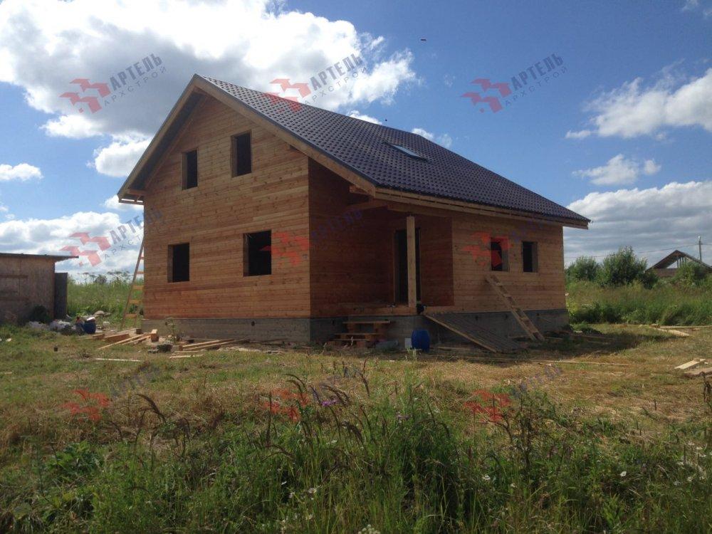 дом из профилированного бруса построенный по проекту Вариант 8.3 А фотография 5153