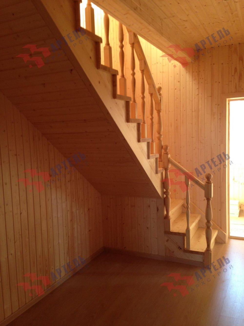 дом из бруса построенный по проекту Вариант 8 А-1 фотография 5203