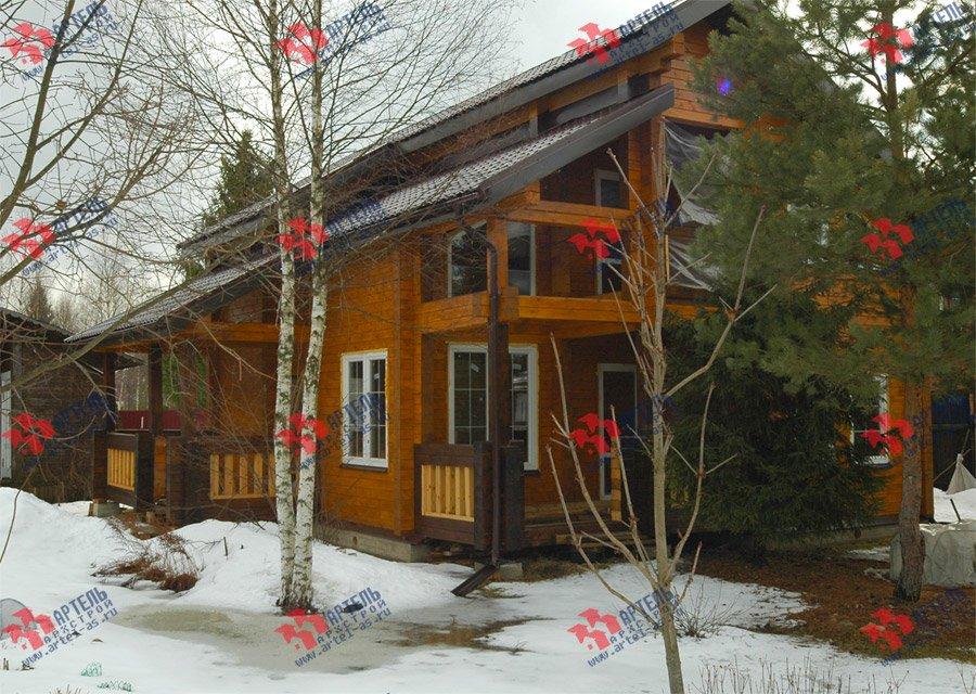 дом из профилированного бруса построенный по проекту Вариант 8.6 К фотография 3735