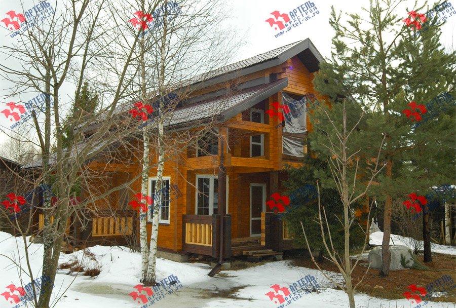 дом из профилированного бруса построенный по проекту Вариант 8.6 К фотография 3736