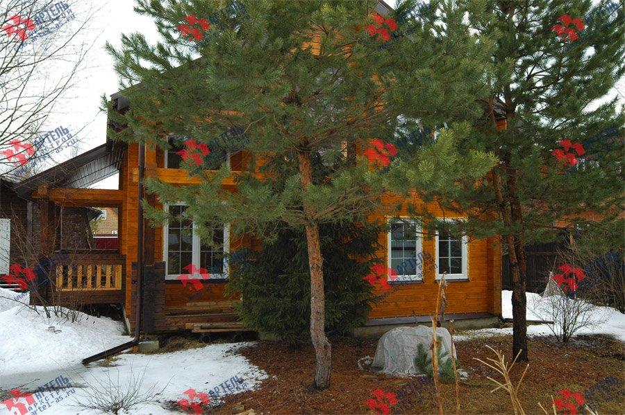 дом из профилированного бруса построенный по проекту Вариант 8.6 К фотография 3737