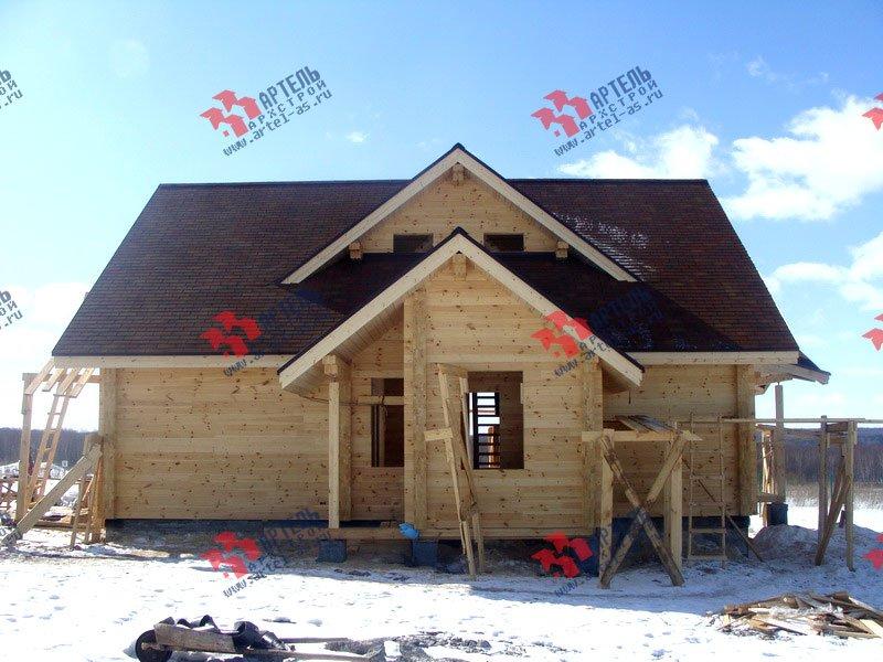 дом из профилированного бруса построенный по проекту Вариант 8.5 Л фотография 1732