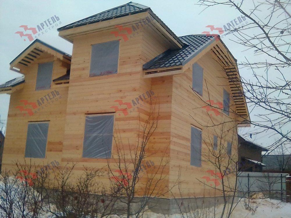 дом из бруса построенный по проекту Вариант 9С фотография 5148