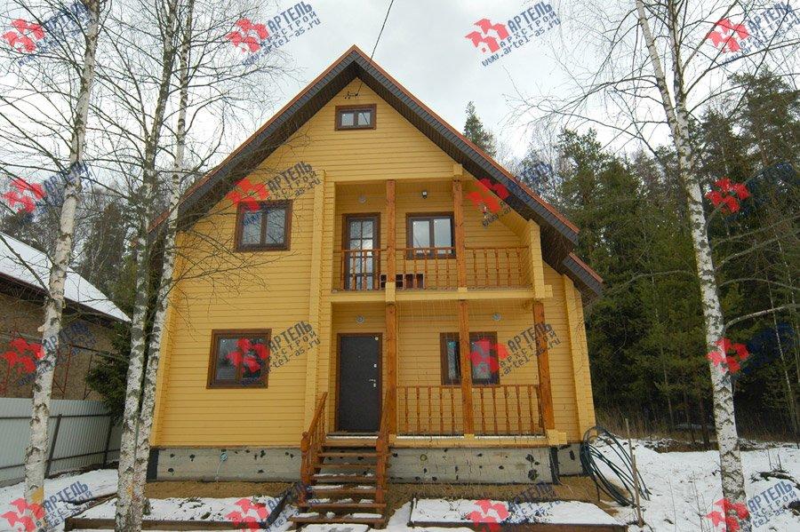 дом из бруса построенный по проекту Вариант 8 Ф фотография 3729