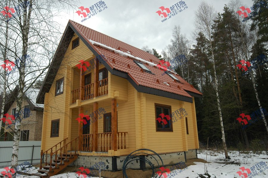 дом из бруса построенный по проекту Вариант 8 Ф фотография 3730