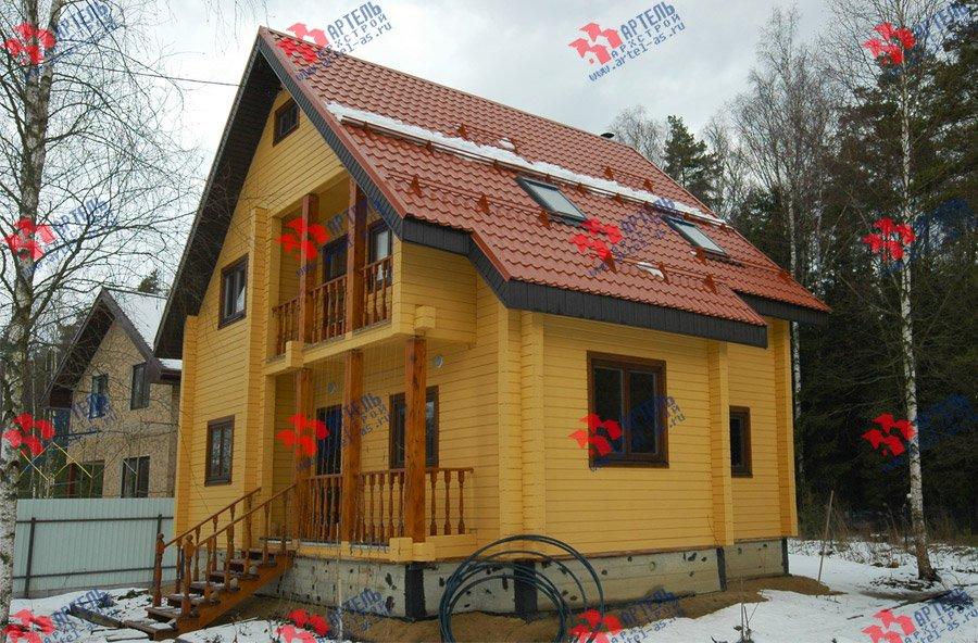 дом из бруса построенный по проекту Вариант 8 Ф фотография 3731