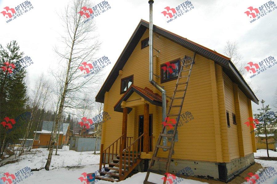 дом из бруса построенный по проекту Вариант 8 Ф фотография 3732