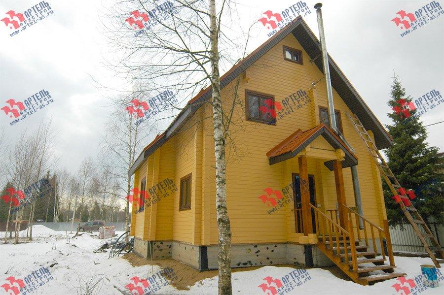 дом из бруса построенный по проекту Вариант 8 Ф фотография 3733