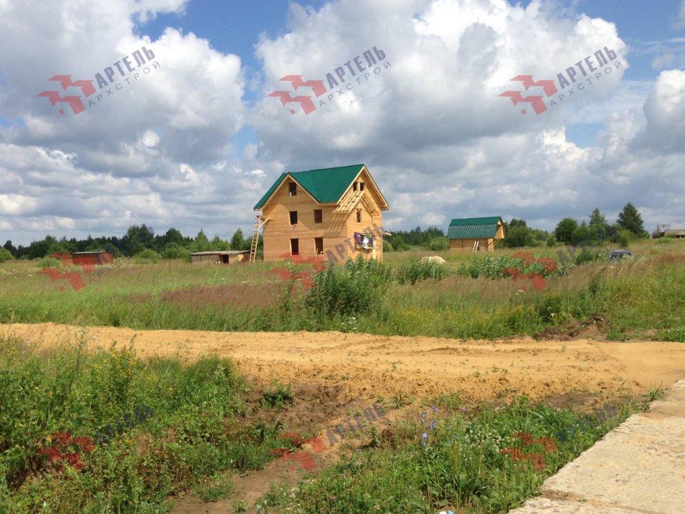 дом из бруса построенный по проекту Вариант 8 П фотография 5166