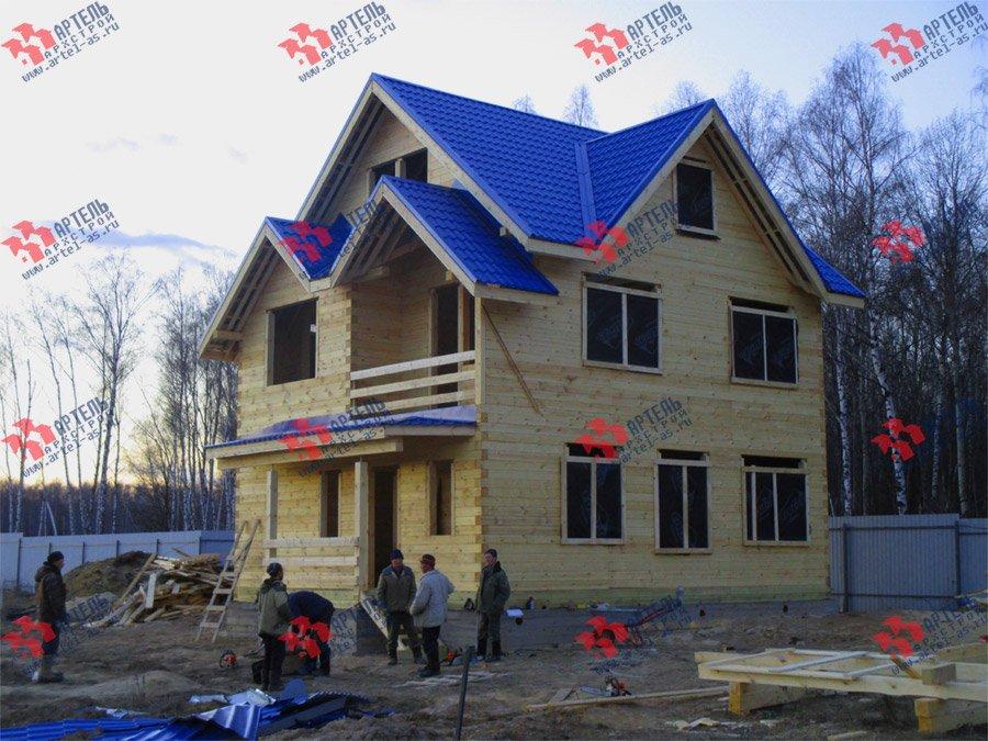 дом из бруса построенный по проекту Вариант 8 П фотография 3754