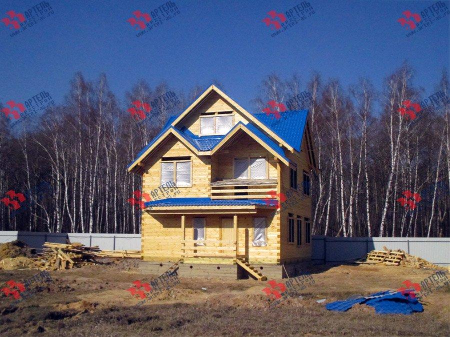 дом из бруса построенный по проекту Вариант 8 П фотография 3755
