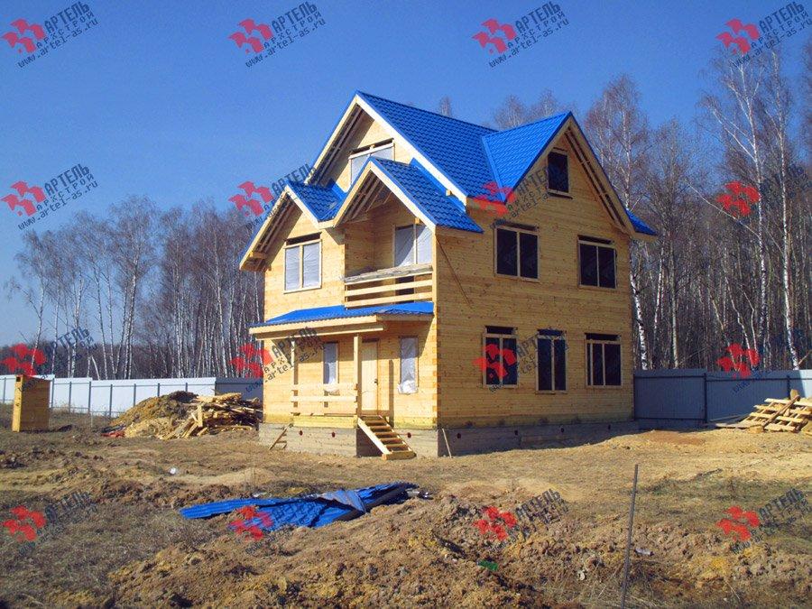 дом из бруса построенный по проекту Вариант 8 П фотография 3756