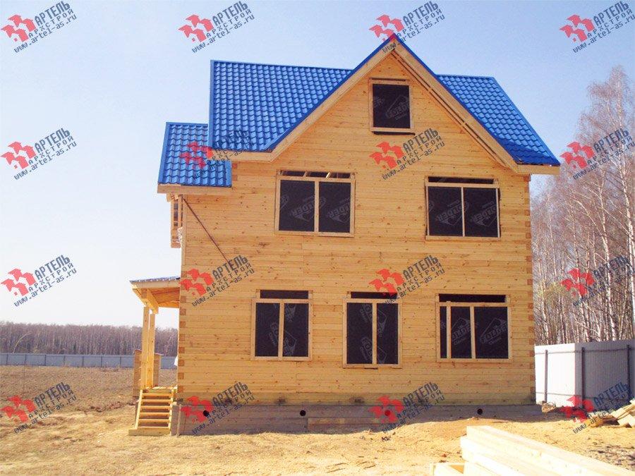 дом из бруса построенный по проекту Вариант 8 П фотография 3757