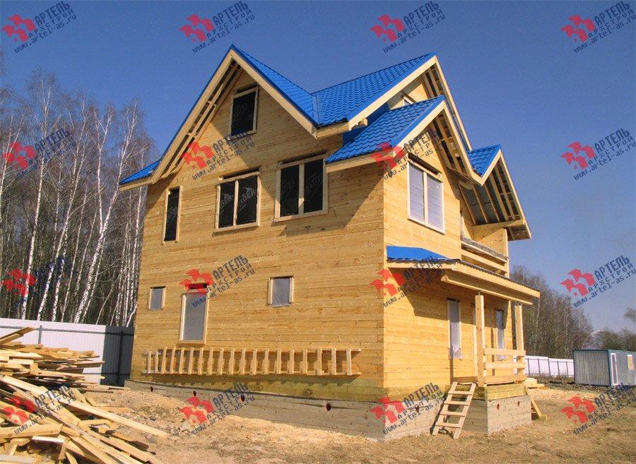 дом из бруса построенный по проекту Вариант 8 П фотография 3758